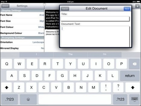 Top 2 Free Teleprompter Apps For iPad | Communications | Scoop.it