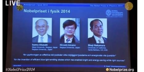 Les diodes bleues récompensées au Nobel de physique 2014   Echos de sciences   Scoop.it