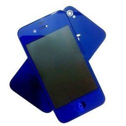 For iPhone 4S Conversion Kits LCD Assembly Repair Parts Housing- Plated Mirror Half Dark Blue With Logo (4S Only)   here are some good goods form tobuygoods   Scoop.it