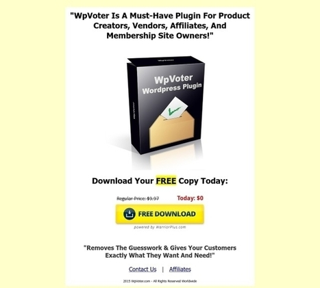 [GET] FREE - WpVoter Wordpress Plugin | vaudou | Scoop.it