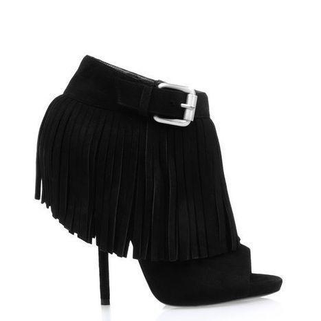 Popular Giuseppe Zanotti Design Open Toe Fringed Ankle Boot Black On Sale | Giuseppe Zanotti Sneakers | Scoop.it