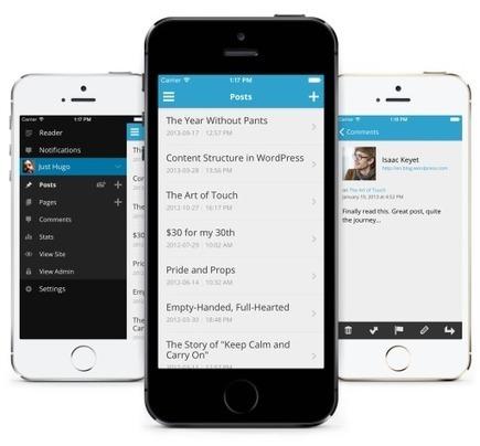 WordPress mobile prêt pour iOS7 | Actu webmarketing et marketing mobile | Scoop.it