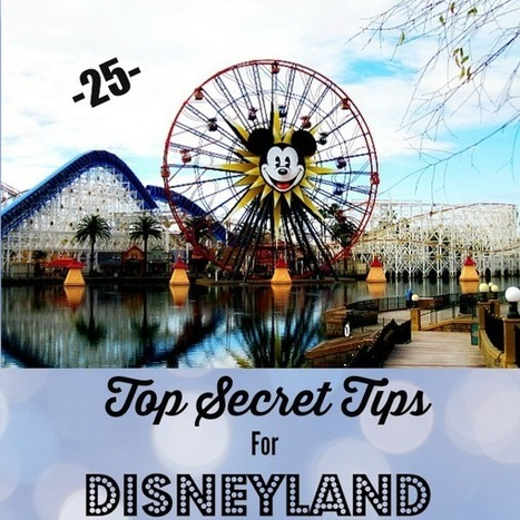 25 Top Secret Tips For Disneyland | It's Time to Travel | Scoop.it