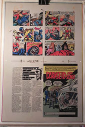 "NEW GODS BOOK 6 FLAT 1 JACK KIRBY ORIGINAL 3M COLOR ART SIGNED A. TOLLIN w/COA | Jack ""King"" Kirby 