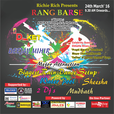 """Have fun on this """"Dhuleti"""" in """"Rang Barse"""" Event with Black Poison Tattoos   Black Poison Tattoos   Scoop.it"""