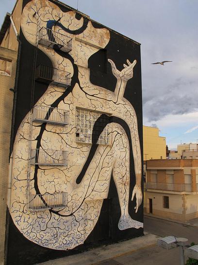 Sam3, Amposta, Spain - unurth | street art | Street Art and Artists | Scoop.it
