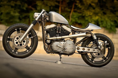 Harley-Davidson Sportster Cafe racer | Bull Cycles - Grease n Gasoline | Interesting things | Scoop.it