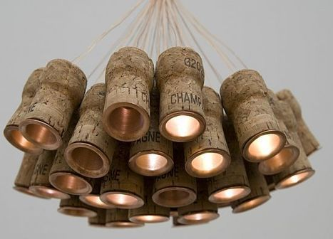 Champagne cork chandelier | Let's Upcycle! | Scoop.it