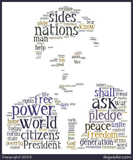 JFK inaugural speech word cloud | librarianonthefly | Scoop.it