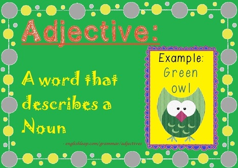 Adjectives | Learn English Grammar | Scoop.it