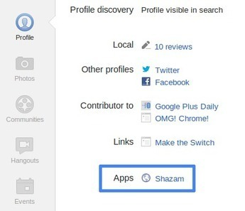 Google Plus Daily: Google+ Sign In: Apps Now Shown on Profiles | Social Networking Services | Scoop.it