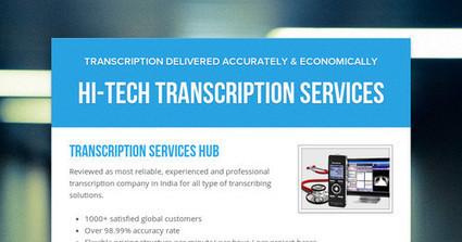 Hi-Tech Transcription Services | Transcribers-India | Scoop.it