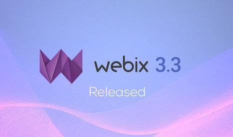 Webix 3.3 release | JavaScript and Web Development | Scoop.it