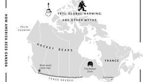 Map: How Canadians and Americans view each other | Digital Cartography | Scoop.it
