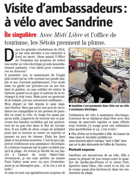 Découverte de Sète en vélo électrique | Sète Tourisme : les ambassadeurs-reporters sur le terrain | Scoop.it