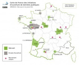 Carte de France de l'Open Data,V4   Web & Internet   Scoop.it