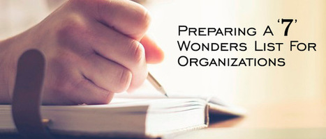 Preparing A 7 Wonders List For Organizations - Promo Direct Blog | Business Promotional Ideas and Products | Scoop.it
