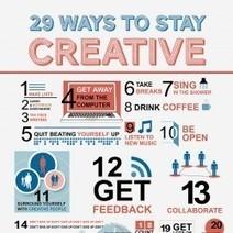 InfoGraphic van de Week: Negen en twintig manieren om creatief te blijven | BlokBoek e-zine | Scoop.it