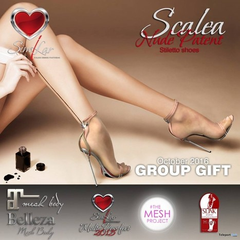 Scalea Nude Patent Stiletto Shoes October 2016 Group Gift by Similar Italian Footwear | Teleport Hub - Second Life Freebies | Second Life Freebies | Scoop.it