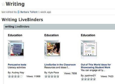 livebinders4teachers / Writing | Social Media: Changing Our World of Education | Scoop.it