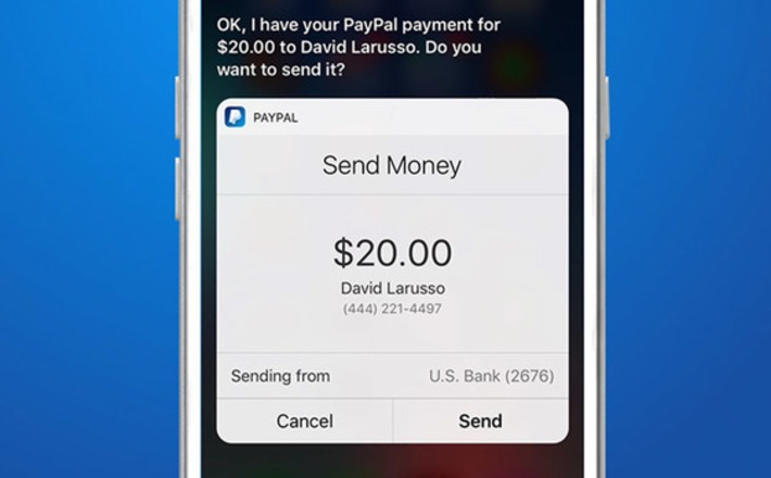 PayPal Integrate Apple' Siri to Allow Users Send Money by Voice Command | Moyens de paiements | Scoop.it