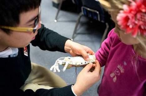 Des lycéens fabriquent une prothèse de main avec une imprimante 3D | Technologie & handicap | Scoop.it