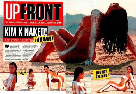 Photos : Kim Kardashian nue sur la plage pour Upfront Zoo Magazine | Radio Planète-Eléa | Scoop.it
