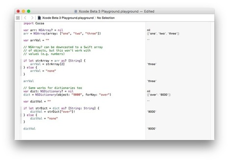 Breaking Changes to Swift in Xcode 6 Beta 3 | iOS Dev Central | Scoop.it