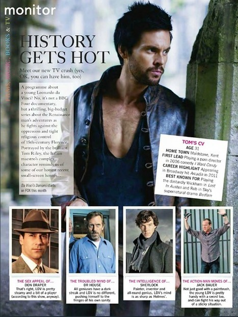 Da Vinci's Demons: Company feature & Location UK interview | Tom Riley | Tom Riley | Scoop.it