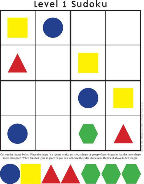 Sudoku - Printables   TEFL & Ed Tech   Scoop.it
