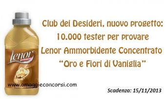 Club dei Desideri Magazine: 10.000 tester per provare Lenor Ammorbidente Concentrato | Omaggi e Concorsi | Scoop.it