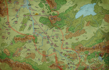 Gorgeous map for Glorantha | Glorantha News | Scoop.it