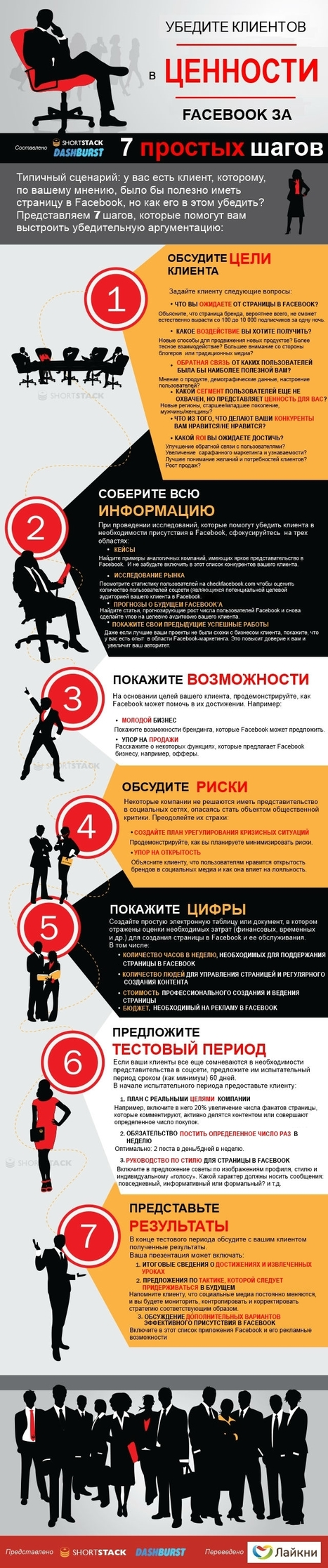 Инфографика: Покажи клиентам ценность Facebook за 7 шагов | SEO, SMM | Scoop.it