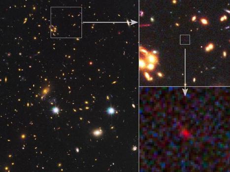NASA Telescopes Spy Ultra-Distant Galaxy Amidst Cosmic 'Dark Ages' | Amazing Science | Scoop.it