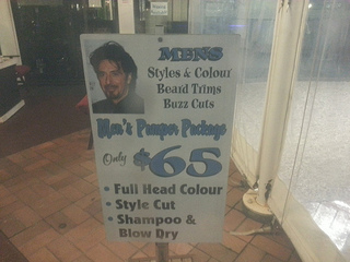 Funny hairdresser sign | Strange days indeed... | Scoop.it