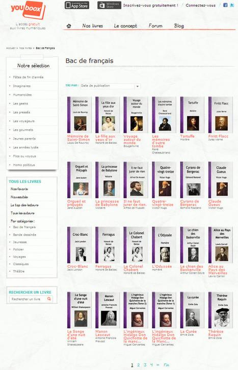 Tous les livres à lire pour le BAC de français gratuitement sur Youboox - Capcampus   Bac de français   Scoop.it