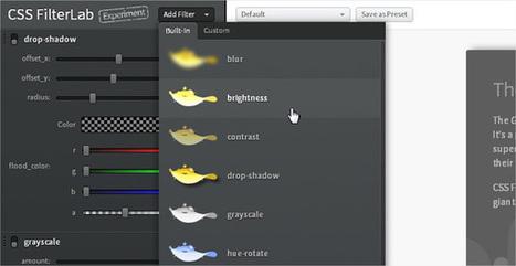 CSS FilterLab: un sito web per ottenere i codici dei filtri CSS | Web Design - Francesco Baiocchi | Scoop.it