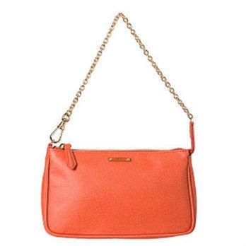 Fendi 'Crayon' Tangerine Saffiano Leather Pouchette Bag   Top Handbags   Scoop.it