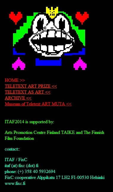 International Teletext Art Festival ITAF2014 | ASCII Art | Scoop.it