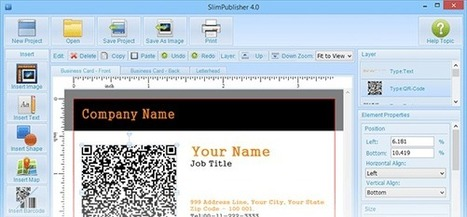 SlimPublisher: Instantly create business cards, letterheads, flyers, postcards, labels, artistic QR codes, etc | elearning | Scoop.it