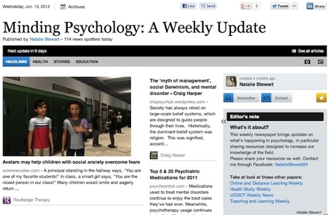 June 13 - Minding Psychology: A Weekly Update | Psychology Professionals | Scoop.it