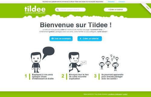 Tildee : Créer un tutoriel en ligne en quelques minutes