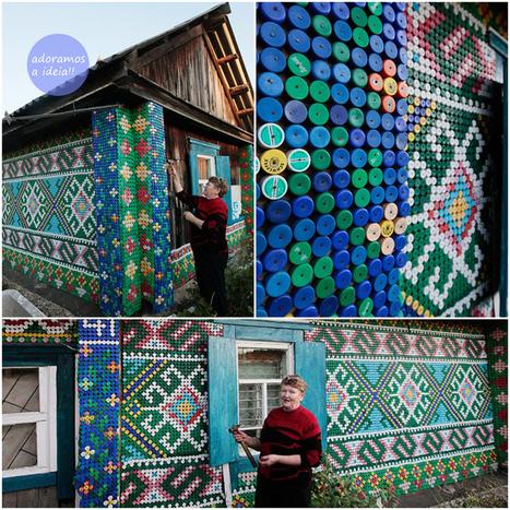A linda casa de tampinhas de Olga Kostina | RL | Scoop.it