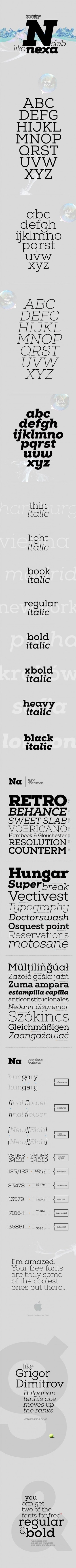 Nexa Slab Free Font - Designer First | Design Inspiration | Scoop.it