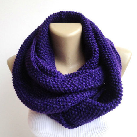 purple knit scarf ,women chunky scarf ,hood loop ,winter neck warmer ,winter scarf , scarf trends | scarf | Scoop.it