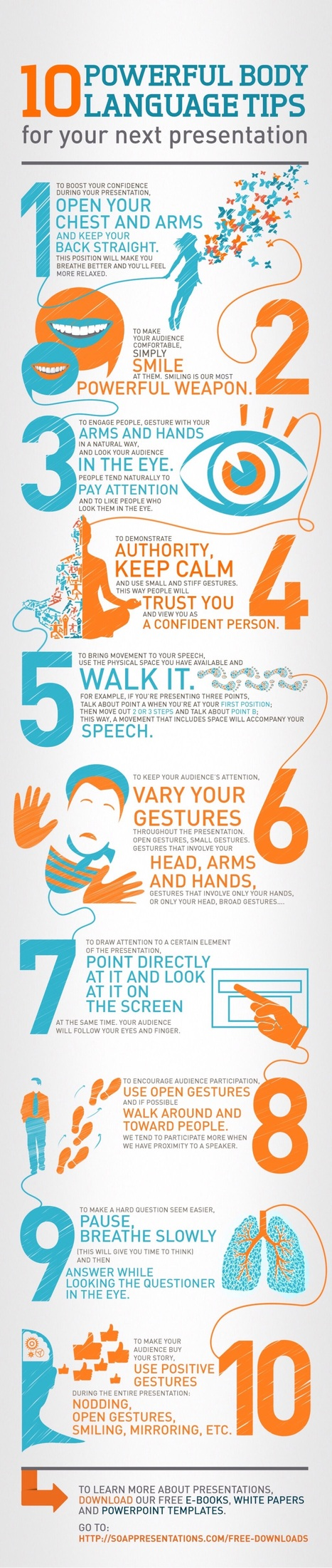 Excellent Graphic Feauring 10 Powerful Body Language Tips Teachers Should Know ~ Educational Technology and Mobile Learning | Educational Psychology | Scoop.it