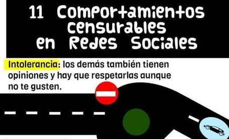 Una infografía que nos enseña 11 conductas censurables en las redes sociales | Recull diari | Scoop.it