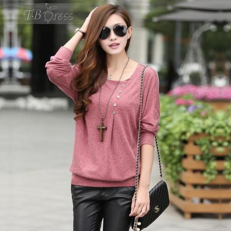 $ 18.99 Classic Round Collar Loose Style Casual Blouse | fashion | Scoop.it
