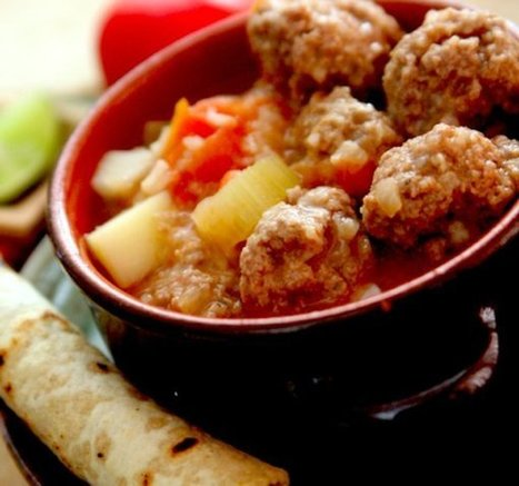 Mexican Meatball Soup Recipe | On the Plate | Scoop.it