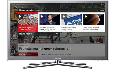 BBC launches news app for TV | Media | guardian.co.uk | Richard Kastelein on Second Screen, Social TV, Connected TV, Transmedia and Future of TV | Scoop.it